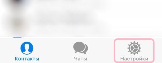 Настройки в мобильном приложении на iPhone