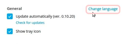 Блок общих настроек в приложении на Linux