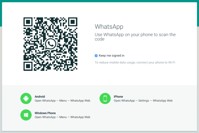 WhatsApp Web - не забывайте отключаться, когда уходите от компьютера