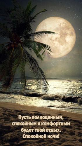 Пусть полноценным, спокойным будет твой отдых. Спокойной ночи!.